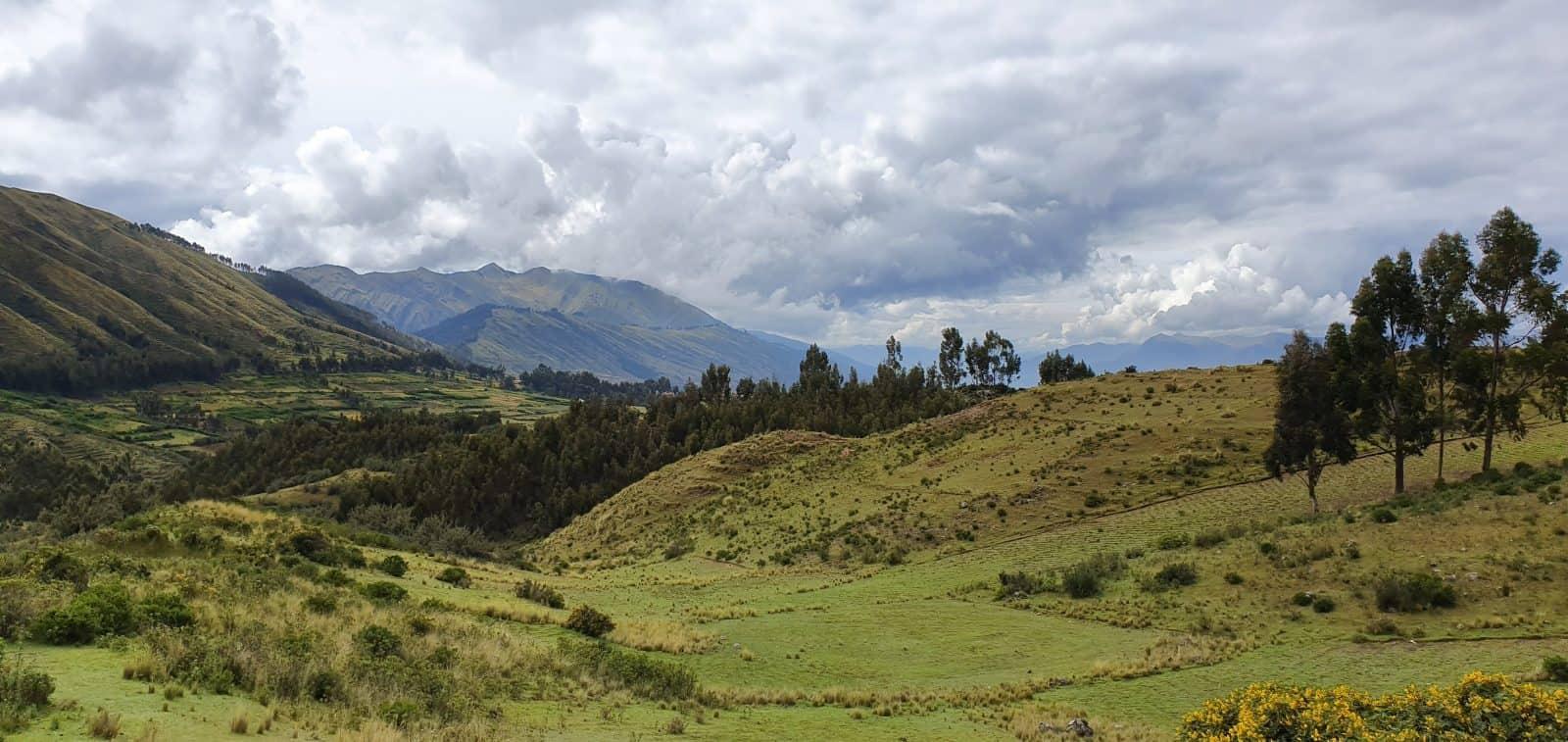 Photo of the view from Puka Pukara