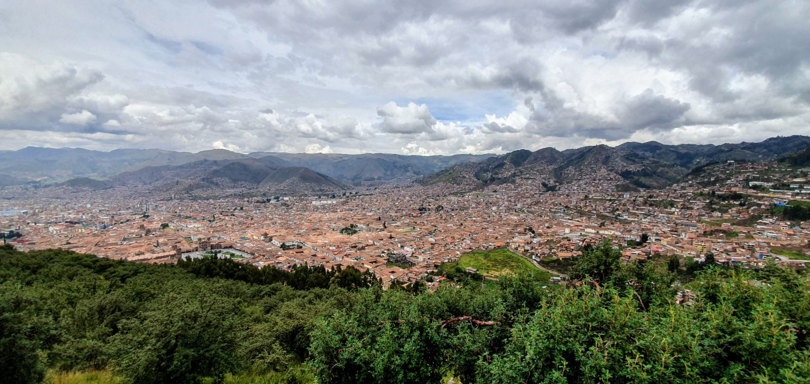 Photo of Cuzco seen from Sacsayhuaman