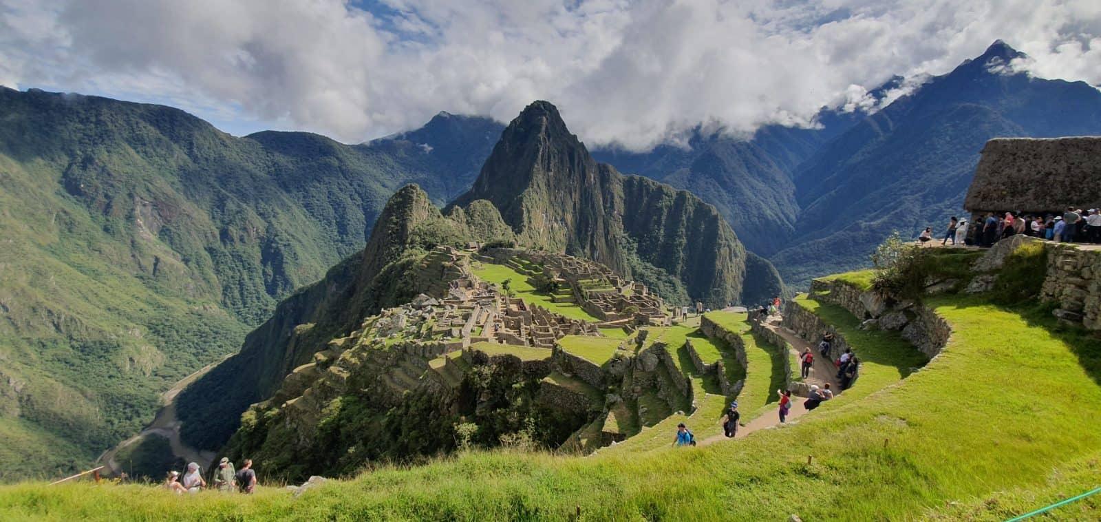 Photo of Macchu Pichu with Huayna Pichu in the back