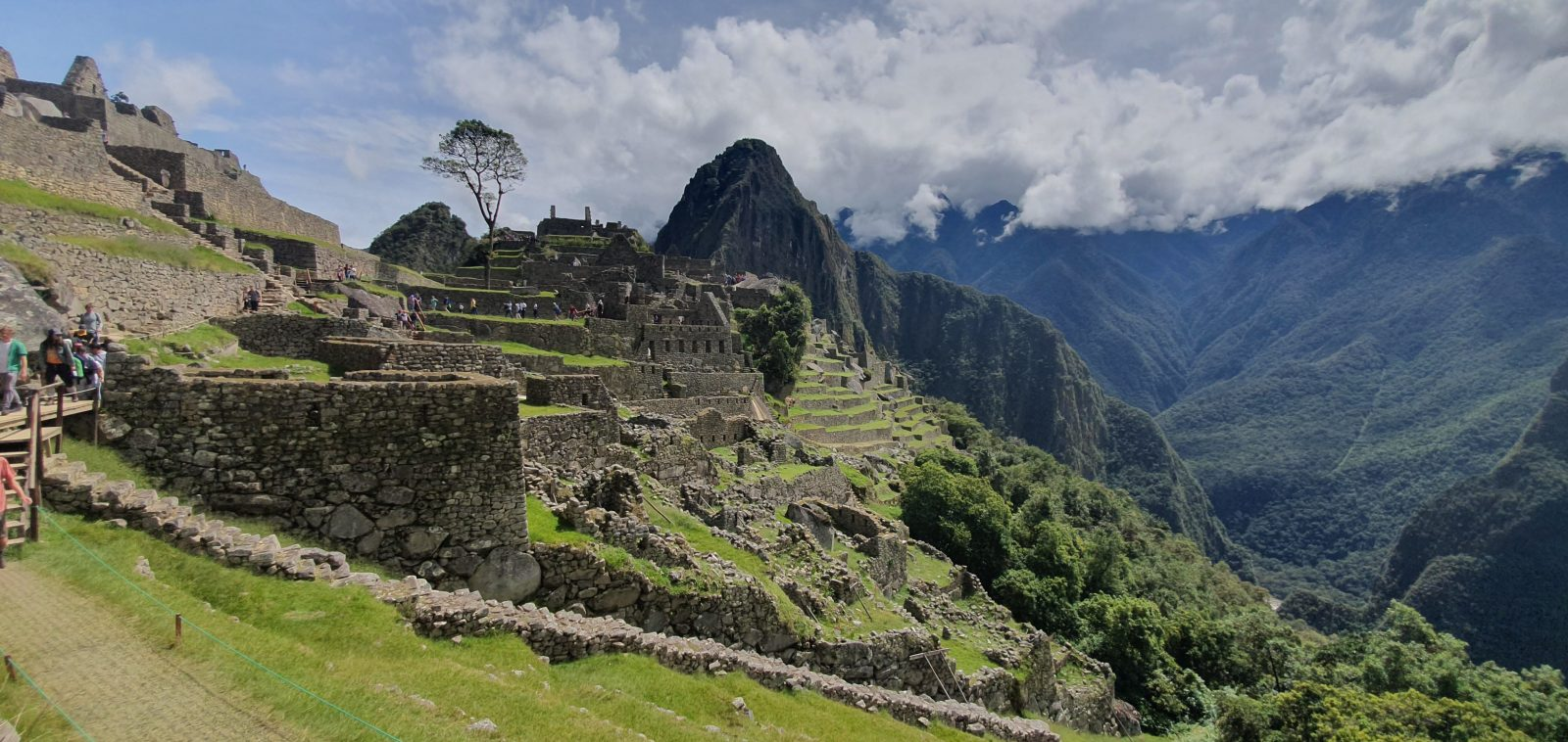 Photo of Macchu Pichu from the side