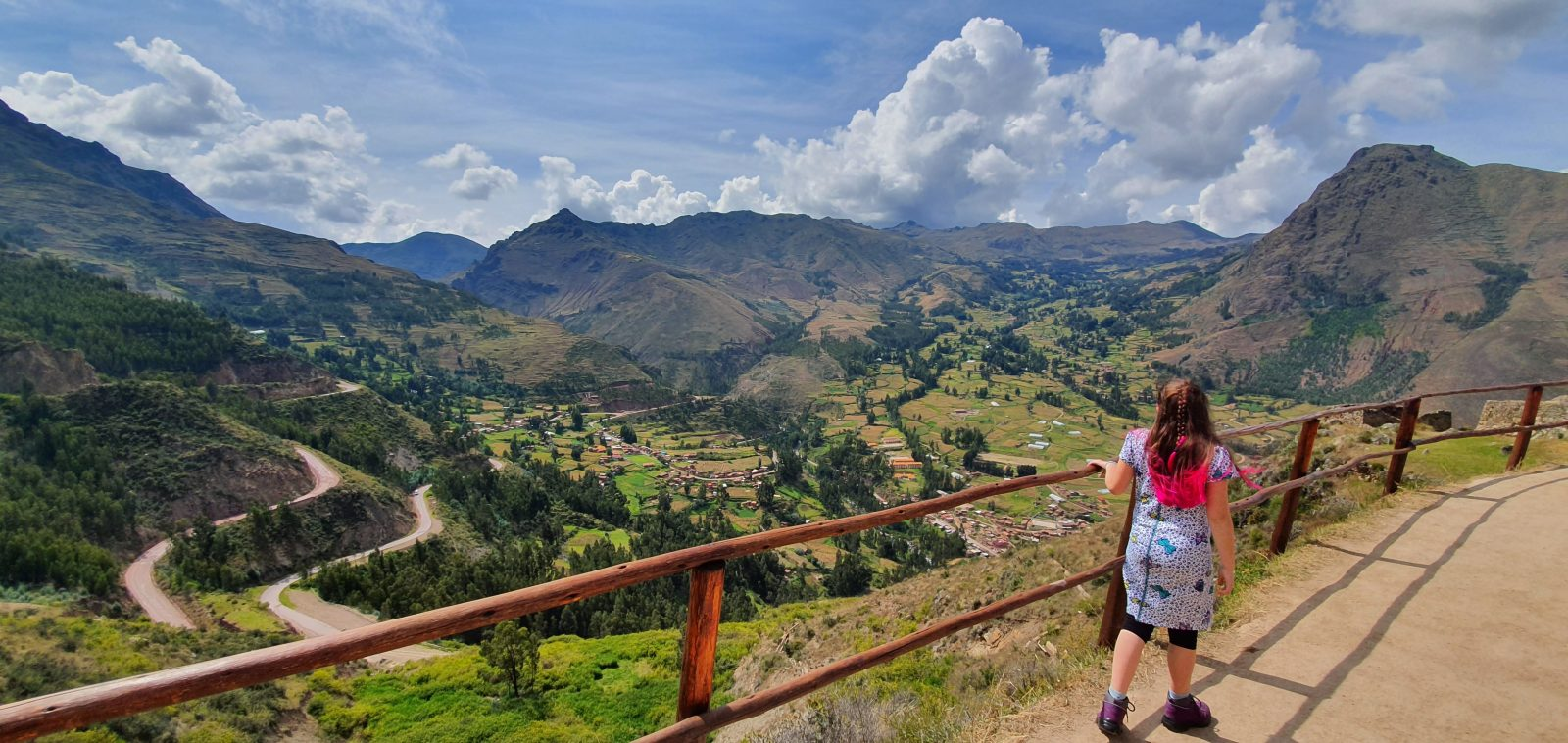 View from Pisac (and my lovely daughter seen from behind)
